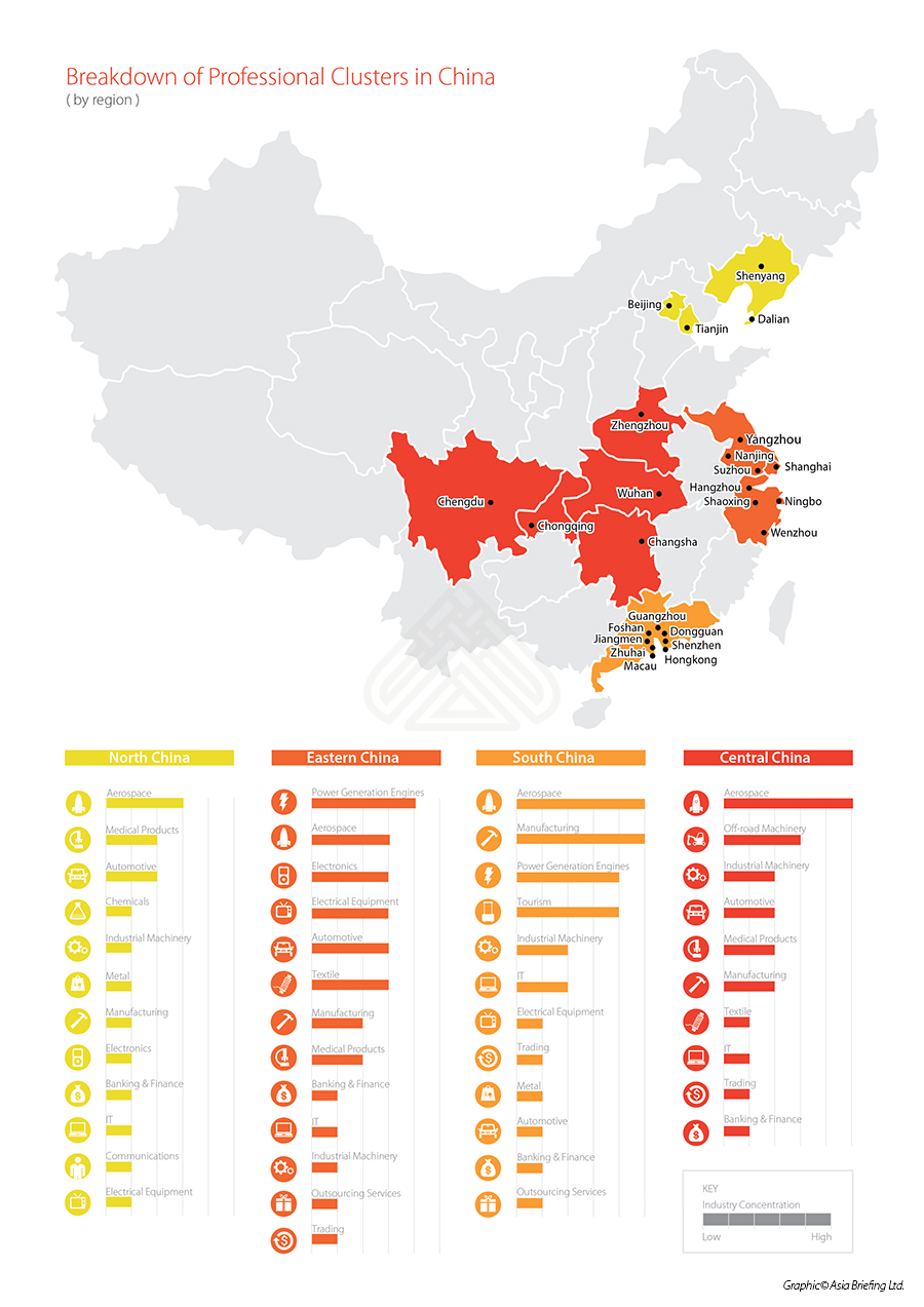 Professional Clusters in China