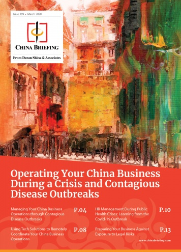 Operating Your China Business During a Crisis and Contagious Disease Outbreaks