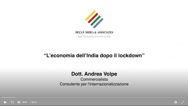 L'economia dell'india dopo il lockdown