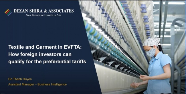 [EVFTA series] Textile and Garments in EVFTA: How Foreign Investors Can Qualify ...