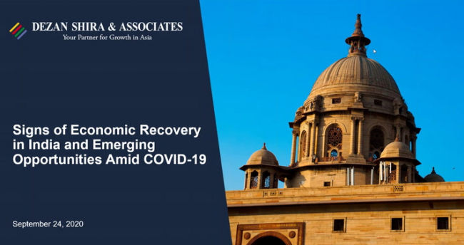 Signs of Economic Recovery in India and Emerging Opportunities Amid COVID-19