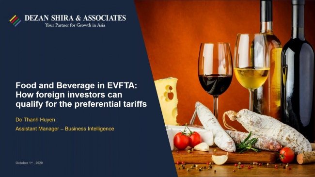 Food & Beverage in EVFTA: How Foreign Investors Can Qualify for Preferential Tar...
