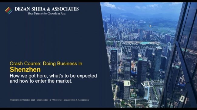Crash Course on Doing Business in Shenzhen - Opportunities and Market Entry Stra...