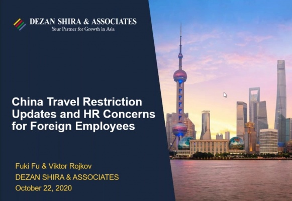 China Travel Restriction Updates and Solutions to Major HR Concerns for Foreign ...