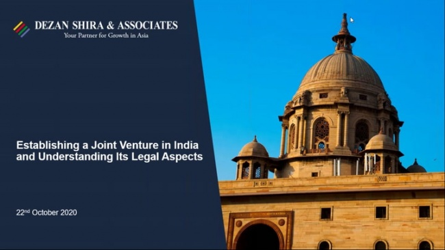 Establishing a Joint Venture in India and Understanding its Legal Aspects