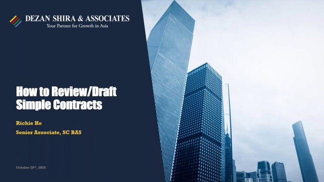 How to Draft and Review Simple Contracts in China