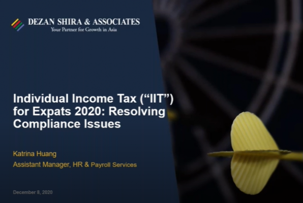 Individual Income Tax for Expats 2020: Resolving Compliance Issues