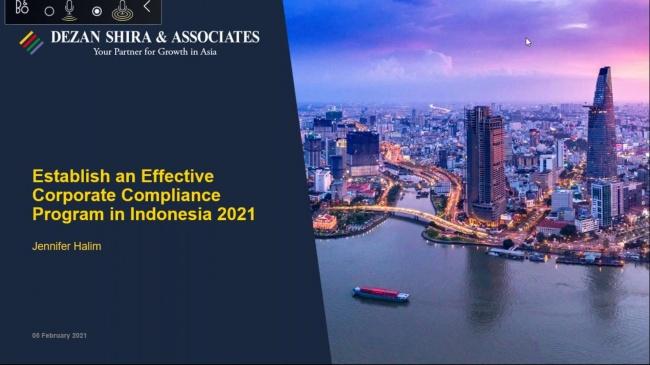 Establishing an Effective Corporate Compliance Program in Indonesia in 2021