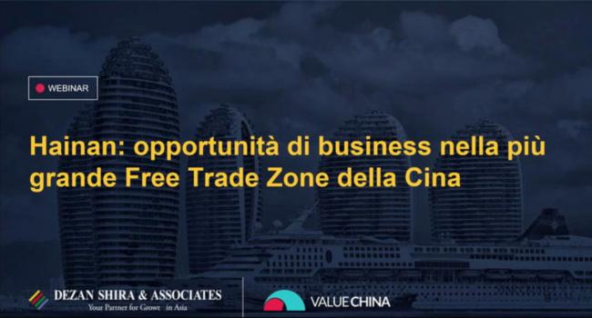 Hainan: Opportunità di Business nella più Grande Free Trade Zone della Cina