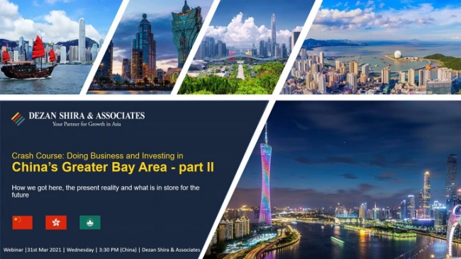 Crash Course on Doing Business and Investing in China's Greater Bay Area in 2021...