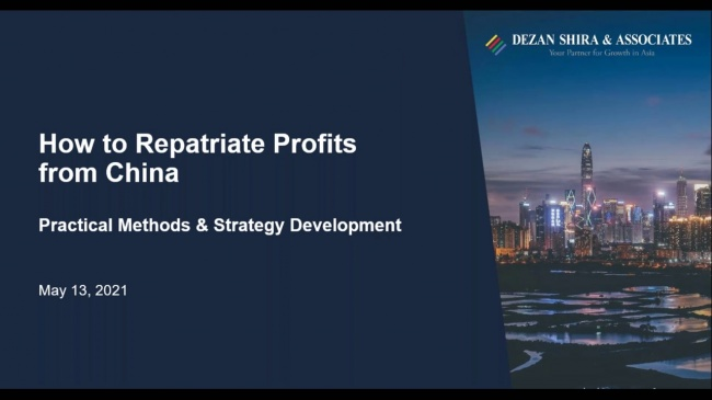 How to Repatriate Profits from China: Practical Methods and Strategy Development