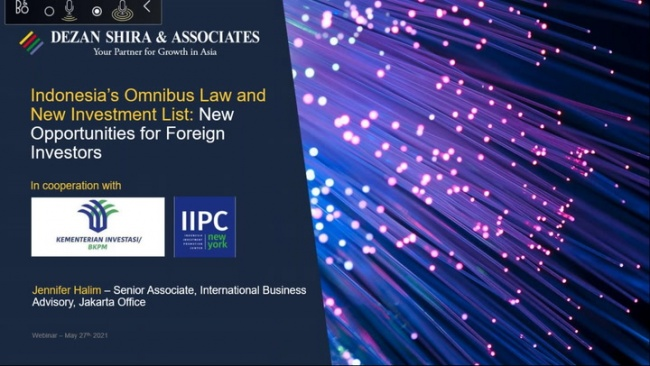 Indonesia's Omnibus Law and New Investment List: New Opportunities for Foreign...