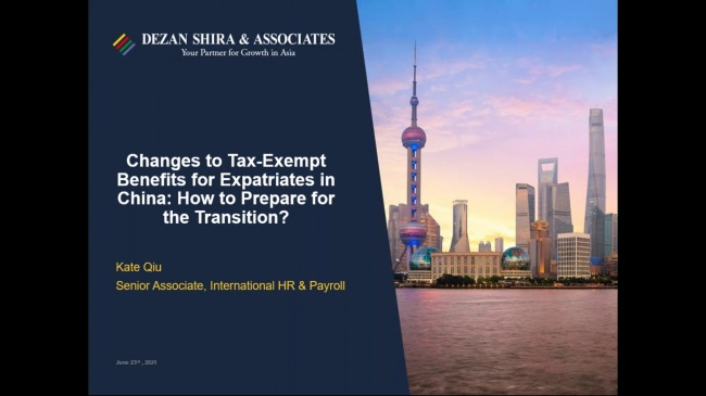 Changes to Tax-Exempt Benefits for Expatriates in China: How to Prepare for the ...