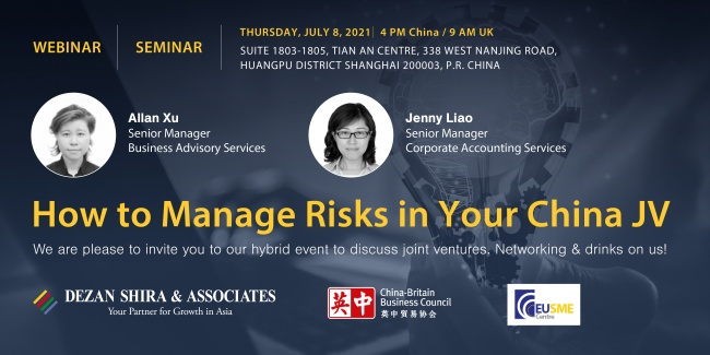 How to Manage Risks in Your China Joint Venture