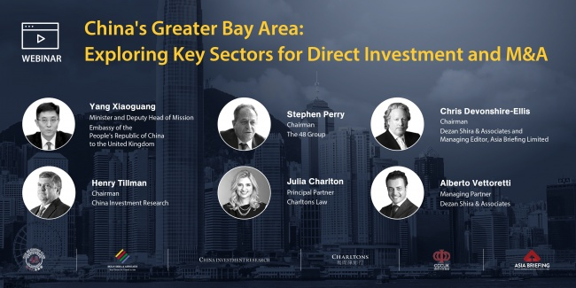 China's Greater Bay Area: Exploring Key Sectors for Direct Investment and M&A
