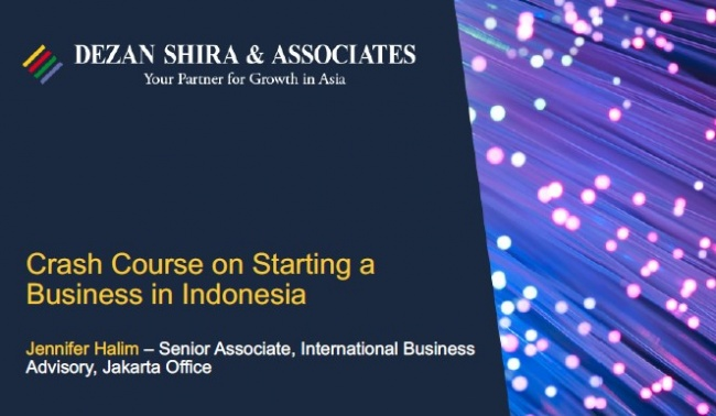 Crash Course on Starting a Business in Indonesia 2021