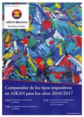Comparador de los tipos impositivos en ASEAN para los años 2016/2017